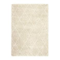 Logan Diamond Woven Rug, Cream and Beige, 200x290 cm