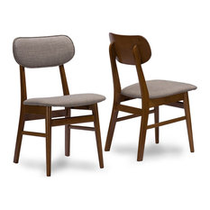 Baxton Studio Sacramento Dining Side Chair in Gray (Set of 2)