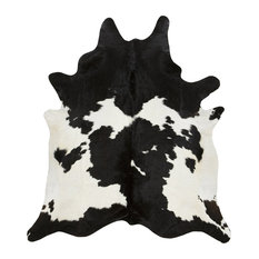 Black and White Cowhide Rug, L