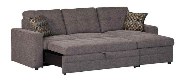 Delightful Storage Sectional Sofa With Pull Out Bed