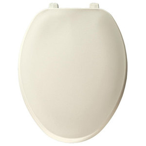 CHURCH 585EC 346 Toilet Seat with Easy Clean Change Hinge ELONGATED Durable NEW
