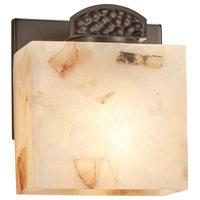 Alabaster Rocks! Malleo, 1-Light ADA Wall Sconce, Dark Bronze, LED