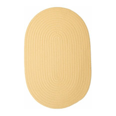 Colonial Mills, Inc - Colonial Mills Boca Raton Pale Banana Area Rug, 12'x15' Oval - Outdoor Rugs