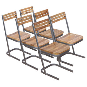 vidaXL Solid Teak Dining Chairs, Set of 6