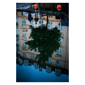 Abstract Canal Reflection Fine Art Print, Colour, 50x75 cm