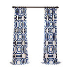 "Mecca Printed Cotton Curtain Single Panel, 50""x96"""