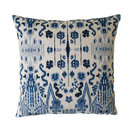 Mumbai Ikat Pillowcase, Blue