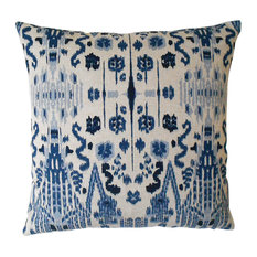 - Mumbai Ikat Pillowcase, Blue - Decorative Pillows