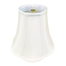 Royal Designs Bottom Outside Scallop Bell Lamp Shade, White, 9x18x14