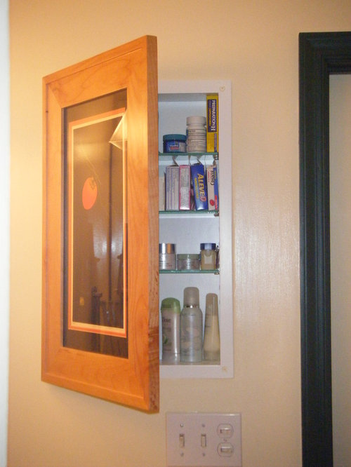 Recessed Picture Frame Medicine Cabinets with No Mirrors