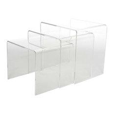 Baxton Studio - Baxton Studio Acrylic Nesting Tables, 3-Piece Set Display Stands - Dining Tables