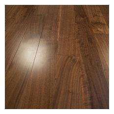 "5""x5/8"" American Walnut Select Prefinished Engineered Wood Floor, 4mm, 1 Box"
