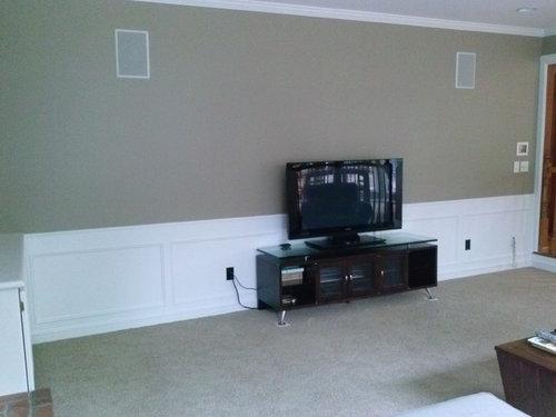 Big Empty Wall Behind Flat Screen Tv Need Ideas