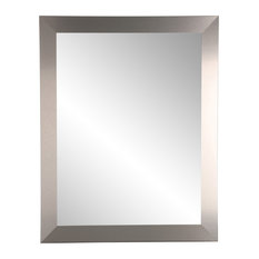 """BrandtWorks Industrial Modern Home Accent Wall Mirror, 32""""x36"""""""
