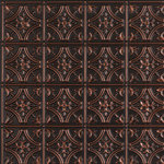 """Decorative Ceiling Tiles - Gothic Reims, Faux Tin Ceiling Tile, Glue up, 24""""x24"""", #150 - Gothic buildings, including the cathedral at Reims, were known for their soaring ?flying? buttresses and ornate carvings. The stunningly complex architecture meant that these structures often took decades and even centuries to be completed by master craftsmen. One of most ornate and intricate ceiling tile designs is our 150 Gothic Reims Circles, ovals, and floral designs all contribute to the majestic look of this stunning tile. But the real beauty is that it won't take you decades to redecorate your room. Just install the 150 Gothic Reims tile and you'll have a beautiful new room in less than a day.PVC, 24x24, Tin Look & No Metal Echo!, Easy Glue Up Installation, Cuts With Scissors, Affordable, Will Not Rust, Light Weight"""