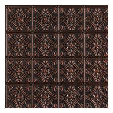 "Gothic Reims, Faux Tin Ceiling Tile, Glue up, 24""x24"", #150"