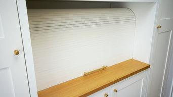 Kitchen dinner storage and hidden desk