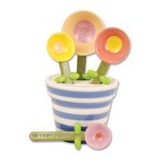 One Hundred 80 Degrees - Ceramic Flower Pot Measuring Spoon Baking Set - Measuring Spoons