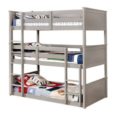Sleep And Play USA   Templeton Triple Bunk Bed, Twin Triple   Bunk Beds