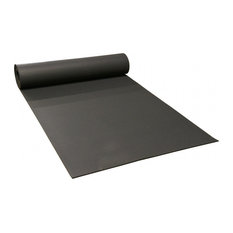 Rubber-Cal Rolled Rubber Floors - 9.5mm x 4ft Wide x 5ft  Rolls - Black