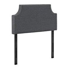 Modern Contemporary Urban Design Bedroom Twin Size Headboard Gray Gray Fabric