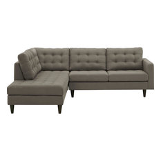 Granite Empress 2 Piece Upholstered Fabric Left Facing Bumper Sectional