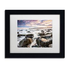 'Goleta Shores' Matted Framed Canvas Art by Chris Moyer