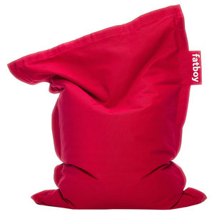 Fatboy Kids Stonewashed Cotton Beanbag Chair, Red