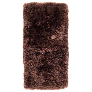 New Zealand Sheepskin Rug, 70x140 cm, Brown