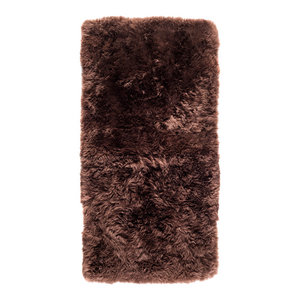 New Zealand Sheepskin Rug, 70x140 cm, Brown