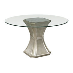 Vanesta Dining Table in Antique Silver Finish (54 in. Dia. x 30 in. H (140 lbs.)