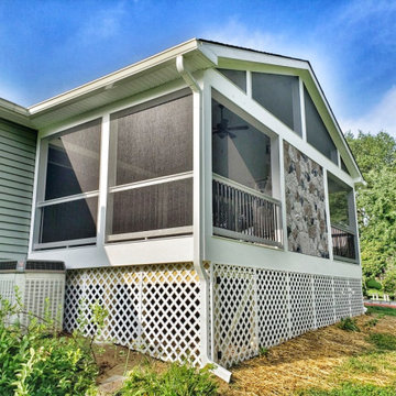 Side view of screened porch