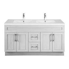 Classic 4-Door 2-Drawer Vanity With Top, Double Sink, Meadows Cove