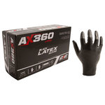 212 Performance Gloves - Disposable Black Latex Gloves, Set of 100, Small - Sometimes you don't need the thickest glove, you need a glove that lets you feel every nook and cranny of the job you're working on. At times like that you need 212 Performance Gloves' Disposable Black Latex Gloves. Perfect for use in plumbing, sanitation/janitorial, automotive, industrial, paint/dye mixing, painting, food service/kitchen, dishwashing, house cleaning, salon/hair-dyeing,  and laboratory work these fully textured, natural rubber latex gloves are powder-free and only 5mil thick so they won't hinder your natural dexterity. The ambidextrous design allows for easy on and off and the black color allows you to see any fading which helps you quickly identify expired gloves. 212 Performance's latex gloves are an excellent addition to your tool box, household, emergency medical/first-aid, and protective equipment supplies.