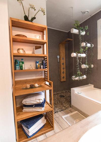 Avant/Après : La rénovation petit budget d'une salle de bains zen