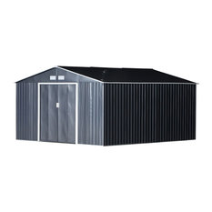 Outsunny Metal Garden Shed Utility Tool Storage 11'x12.5'