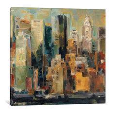 """New York New York"" by Albena Hristova, 37x37x1.5"