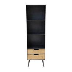 Milleto Mid Century Three Level Bookshelf