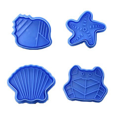 4-Piece Blue Ocean Style Biscuits Mold Cake Cookies Cutters