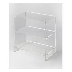 Crystal Clear Acrylic Bookcase - Clear