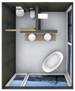 Bathroom layout idea 8x8