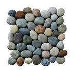 "12""x12"" Classic Pebble Tile, River Rock Gray Blend"