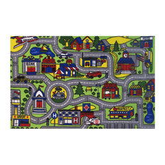 "Fun Rugs Fun Time Collection Driving Time Area Rug, 6'8""x10'"
