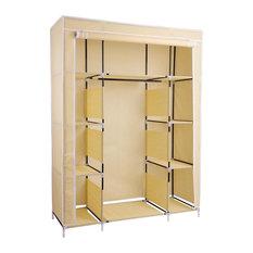 YesHom   Portable Closet Storage Organizer, Beige   Closet Organizers