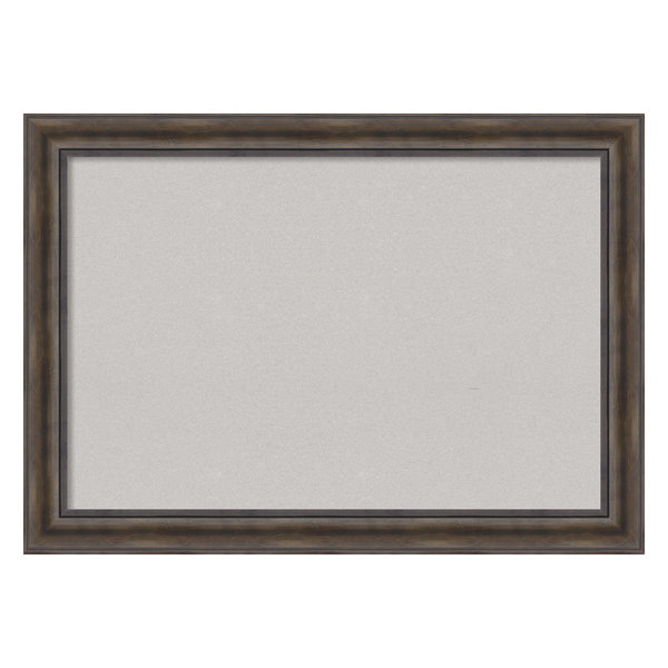 Framed Gray Cork Board Extra Large, Rustic Pine, Outer Size 42x30