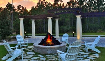Gas FirePit with Flagstone