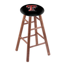 Maple Counter Stool Medium Finish With Texas Tech Seat 24-inch