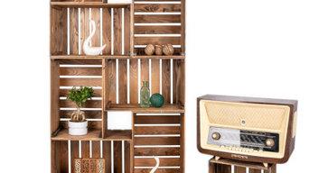 Meubles en caisses en bois 1001 Caisses