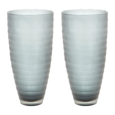 Dimond Home Smoke Matte Cut Vases, Set of 2 464083/S2