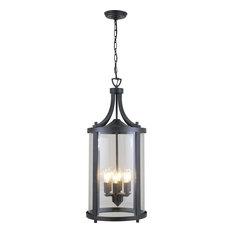 "DVI Lighting - Niagara Outdoor 32"" Outdoor Lantern, Hammered Black - Outdoor Hanging Lights"